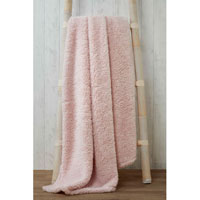 Soft and Cosy Teddy Blanket Throw Blush 200x240