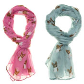 Fashion Summer Scarf Effie Dog Print