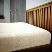 Super Soft Teddy Feel Fitted Bed Sheet Cream