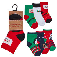 Babies 3 Pack Christmas Design Socks