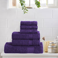 6 Piece Luxury Towel Bale Set Aubergine