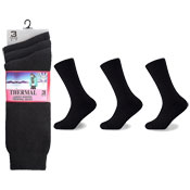 Ladies Winter Thermal Socks Black
