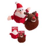 Plush Santa And Rudolph Dog Toy 18cm