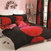 Manhattan Black/Red Duvet Set