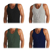 Mens Coloured Vests Single Jersey
