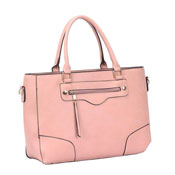 Ladies Lola Front Zip Tote Bag Pink