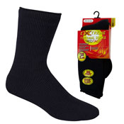 Mens Extreme Thermal Socks Big Foot Black 2.45 TOG