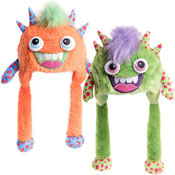 Kids Soft Fleece Monster Novelty Hat