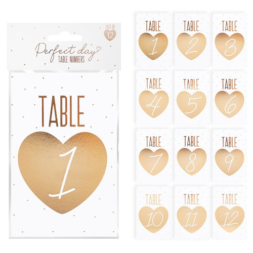 Table Numbers 12 Pack