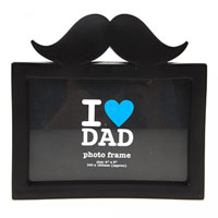 Best Dad Ever Moustache Photo Frame