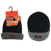 Mens Heat Machine Thermal Hat Black/Grey Carton Price
