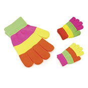 Kids Magic Neon Striped Gloves