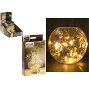 20 Mini LED Bulbs On Copper Tone Wire Warm White
