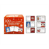 100 Christmas Gift Labels on Self Adhesive Roll
