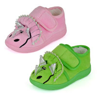 Toddler Triceratops Slippers
