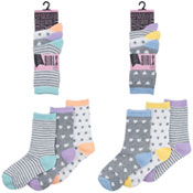 Girls Assorted Design Socks 3 Pack