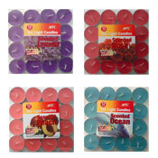 Tea Light Scented Colour Candles 12 Pack