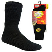 Mens Extreme Thermal Socks Black 2.45 TOG