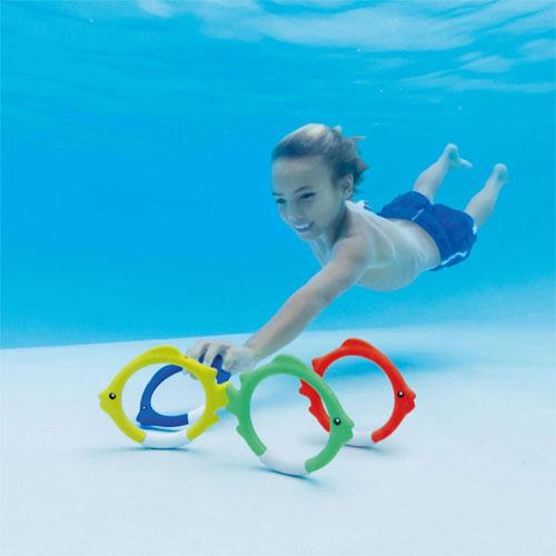 Underwater Fish Rings Diving Toy