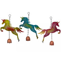 Metal Unicorn Garden Wind Chime