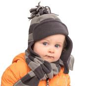 Childrens Fleece Trapper Stripe
