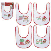 Baby Christmas Elf Design Velcro Bibs