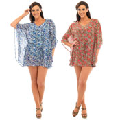 Ladies Floral/Animal Print Kaftan
