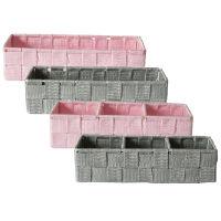 Rectangular Woven Fabric Storage Baskets