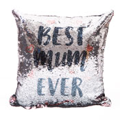 Best Mum Ever Sequin Filled Cushion