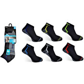 Mens ProHike Cushioned Sole Trainer Socks Outline Design
