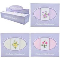 Ladies Boxed Handkerchiefs 3 Pack