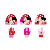 Minnie Mouse Childrens Hat & Gloves Set