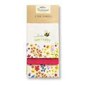 Bee Happy Tea Towels 3 Pack