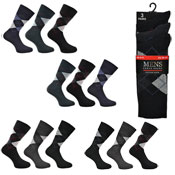 Mens Classic Argyle Cotton Socks