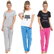 Ladies Printed Jersey PJ Set
