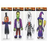 Halloween Printed Gel Window Stickers