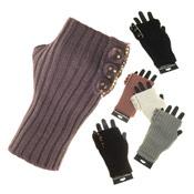 Ladies Knitted Fingerless Gloves
