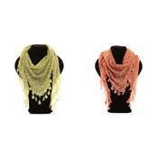 Ladies Fashion Scarves Triangle Flower Print