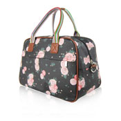 Blossom Flower Weekend Bag Black