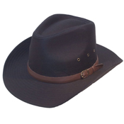 Wide Brim Cowboy Hat with Faux Leather Band