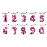 Large Pink Foil Balloon Numbers