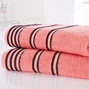 Sirocco Luxury Cotton Bath Towels Coral