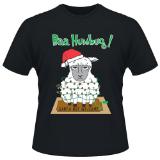 Christmas T-Shirt Sheep Baa Hambug Black