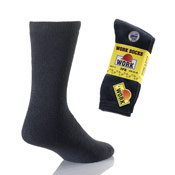 Mens Work Socks Cotton Rich