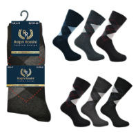 Mens 3 Pack Ralph Rossini Argyle Socks