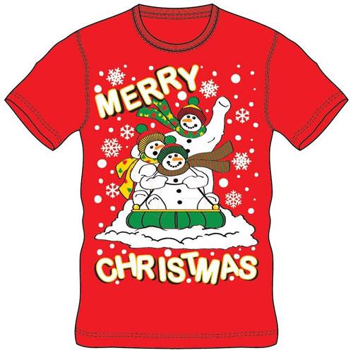 Christmas T-Shirt Red Merry Christmas Sleigh