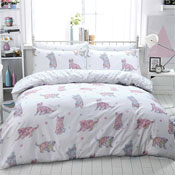 Cat Multi Colour Print Duvet Set