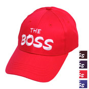 "Baseball Hat With Embroidery ""The Boss"""
