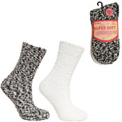 Ladies Super Soft Lounge Socks Popcorn