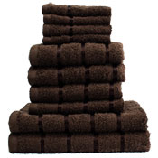 10 Piece Towel Bale Chocolate Egyptian Cotton